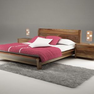 Giường ngủ gỗ óc chó tự nhiên GN-20