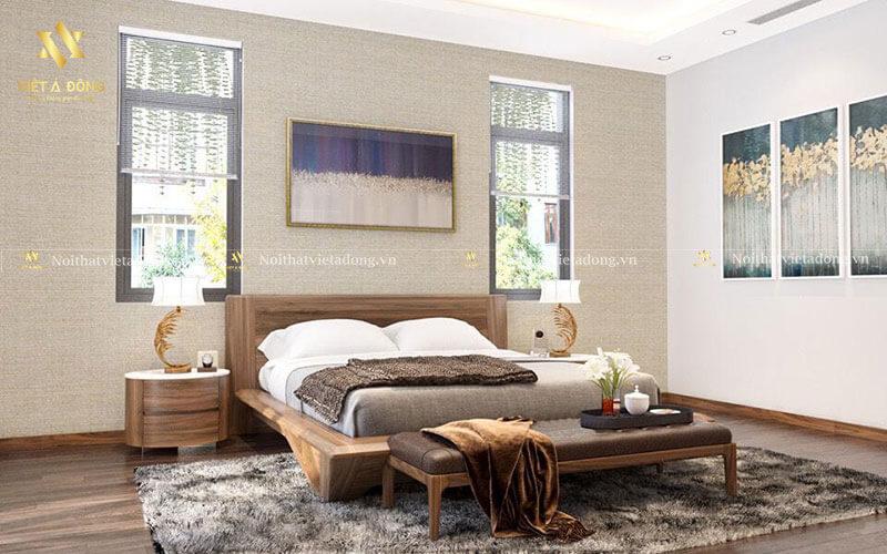Giường gỗ óc chó hiện đại cao cấp GN-26
