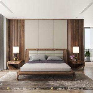 Giường ngủ gỗ óc chó hiện đại mới nhất GN-32