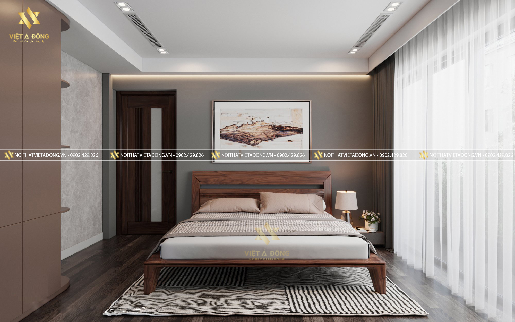 Tối giản màu sắc của phòng