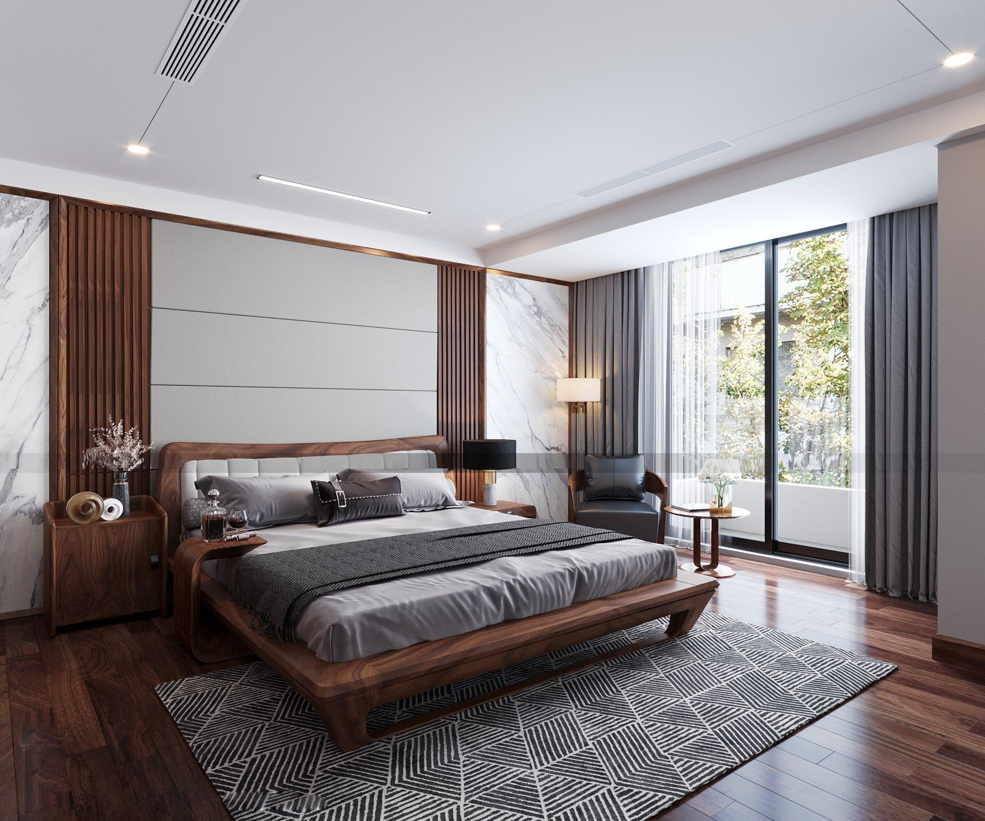 Giường ngủ gỗ óc chó có đắt không